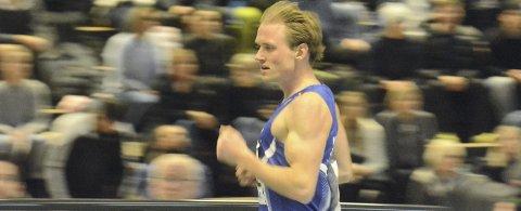 Sølv: Carl Emil Kåshagen løp inn til NM-sølv under innendørsmesterskapet i Bærum søndag. foto: Haakon Skarpnord