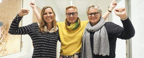Jubler over ny kontrakt: Eileen Jacobsen, Inis Ivarsson og Kine Baustad jubler etter å ha vunnet nok et anbud fra NAV Nordland. Denne gangen på 14,4 millioner. Begge foto: Lone Martinsen