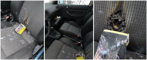 HÆRVERK: Tore Pettersen har sendt oss disse bildene av bilen sin.