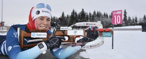 Jubeldager: Sigrid Bilstad Neraasen fra Åsmarka gikk fredag inn til bronse under NM-sprinten på Lillehammer. Torsdag ble det bronse i stafett.