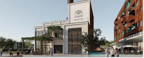 Ideer: Bibliotek med uteservering er ideer eierne har for det gamle fyrhuset og Vikingpipa.