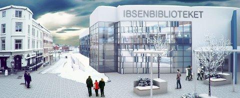 SLIK KAN DET BLI: Det nye biblioteket kan bli seende ut slik, det kom fram i fjor.