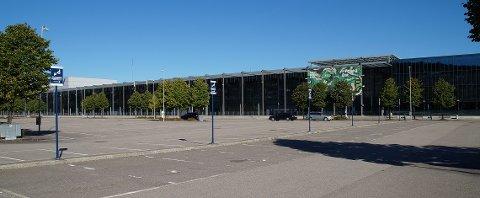Åstedet: Her ved Norges Varemesse i Lillestrøm barket 15-20 ungdommer sammen i et slagsmål søndag sist uke.