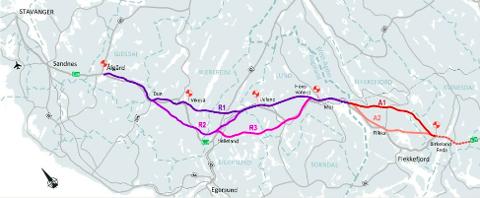 FORBI VIKESÅ: Nye Veier kan hoppe over strekningen Saglandsvannet – Bue i denne omgang på grunn av bompengevedtaket i Bjerkreim kommune.