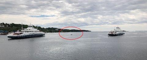 Småbåten fikk motortrøbbel utenfor Klevberget