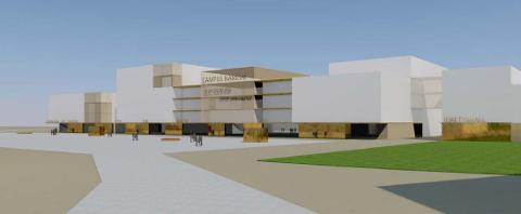 GEDIGENT: Idéutkastet til Campus Namdal legger til grunn en samlet bygningsmasse på ca. 32.000 kvadratmeter.