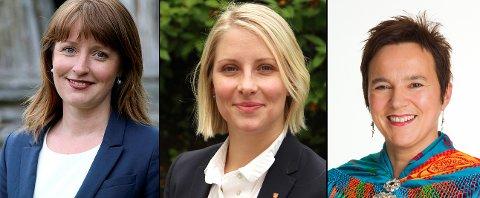 ENIGE: Ingelin Noresjø (KrF) (fra venstre), Sigrid Ina Simonsen (Ap) og Ragnhild Vassvik (Ap) er enige: Dersom Statnett skal bygge hypersenter for datalagring, bør det skje i Nord-Norge.