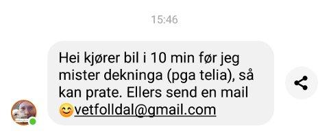Arbeidets Rett kontaktet Aina Kveberg over Facebook for et intervju. Straks Kveberg ankom Folldal sentrum forsvant dekningen. Slik har det vært siden mandag 11. oktober.