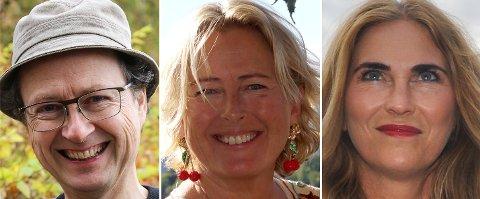 Kjendiser, ved noen av dem: Bjørn F. Rørvik, Benedikte Ferner og Eli Kristin Hanssveen.