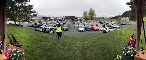 Rundt 70 bilar var til stades under bilbasaren på Halsnøy førre helg.