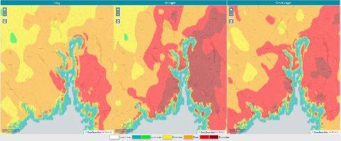 SKOGBRANNFAREN BLIR VERRE: Situasjonen forverres de neste dagene, ifølge Meteorologisk institutt og DSB.