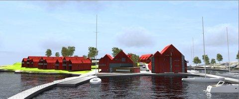 Utbygging: Marnet Marine Park vil ha flere båtplasser, butikker og restauranter - samt 80m ferieboliger på Marnet. Det er odden og halvøya mellom Øyenkilen og Fjellskilen i Onsøy.