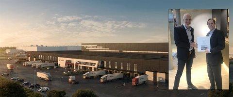 STOR KONTRAKT: Veidekke Logistikkbygg har fått kontrakten på å sette opp lagerbygget til Optimera på Vestby Næringspark Øst.