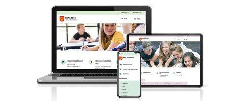 NYE SKOLENETTSIDER: Rjukan vgs og alle de andre skolene med ett unntak i Vestfold og telemark fylkeskommune lanserer nye nettsider til skolestart mandag.