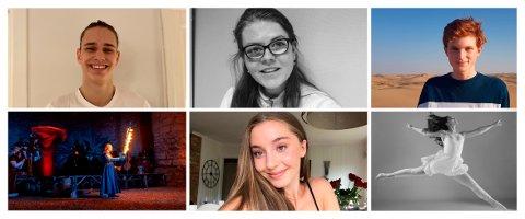 DRØMMESTIPEND: Disse seks unge talentene fra Sandefjord kommune er nominerte til drømmestipendet. Fra venste: Odin Storm Vang (18), Synne Pettersen (19), Jakob Bjønnes (17), Julie Eurora Sunde (19), Renata Cika (18) og Victoria Therese Verdu (17),