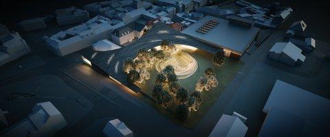 ANBEFALER: Rådmannen går inn for Trekrone i Kulturkvartalet ved Ibsenhuset. - Prosjektet framstår som et unikt ikonbygg og dekker funksjonene til et nasjonalt senter, sier han.