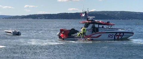 Mann over bord redningsdemo