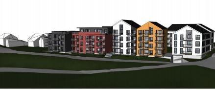 JUSTERT: Da Innlandet fylkeskommune har innsigelser til leilighetsprosjektet Lillehammer Brygge, har utbygger justert planene nok en gang.