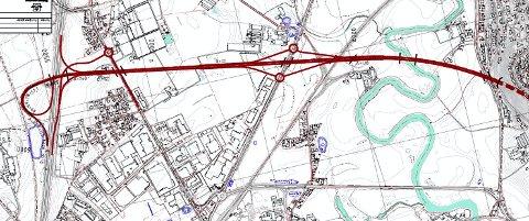 En fjerde trasÉ: Slik ser Statens vegvesen for seg et fjerde alternativ for framføringen av riksvei 23 fram til E18. Statens vegvesen vil nå sjekke ut om også dette trasévalget skal være med i de videre utredningsarbeidet.