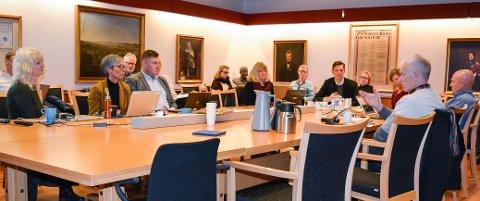 VIL FINNE LØSNINGER: Fred Anton Mykland (nummer tre fra venstre) i Statens vegvesen i møtet i Miljøløftet Moss i februar i 2020. I neste uke skal stenging av Fjordveien opp på det digitale møtebordet hos Miljøløftet.