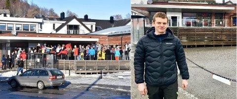 FØR OG NÅ: Bildet til venstre er tatt skjærtorsdag i 2018, på en av dagene da Sirkus Bytomta hadde størst besøk og mest omsetning. På samme dag i 2021 var det mørkt og stille på utestedet hvor Petter Aar er daglig leder.