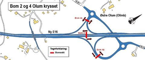 Modifisert kartskisse fra Statens vegvesen.