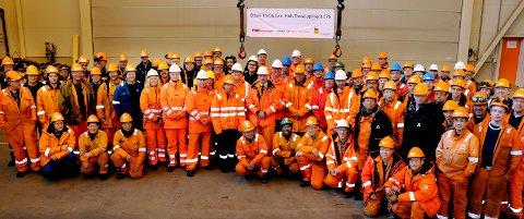 PERMITTERINGER: 15 produksjonsarbeidere har fått permitteringsvarsel på Agility Subsea Fabrication, dette bildet er tatt ved en tidligere anledning.foto:ørjan madsen