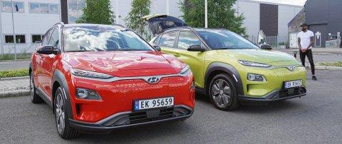 Hyundai har valgt spreke farger på testbilene. Og det er ingen tvil om at de skaper en del oppmerksomhet.