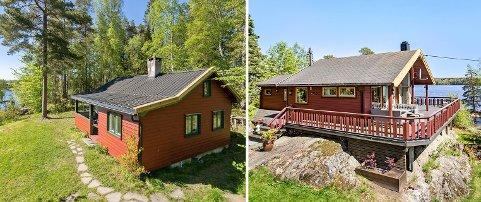 Svinesveien 83 til høyre ble mandag solgt for 6,8 millioner kroner og dette er prisrekord på hytte i Enebakk. Svinesveien 160 til venstre ble senere samme dag solgt for 4,75 millioner kroner.