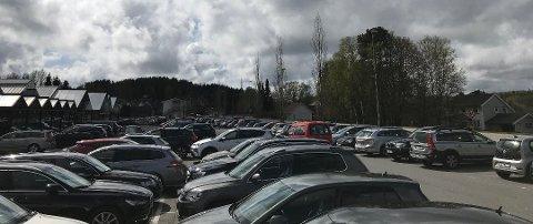 PARKERINGSPLASSEN: Hendelsen skjedde på Gjennestad Hagesenter i Stokke fredag. Illustrasjonsfoto/arkiv: Leserbilde
