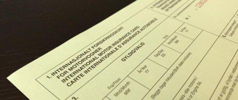 Grønt kort er et forsikringsbevis som kan hjelpe deg når du er på bilferie.
