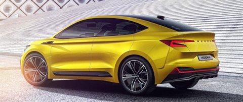 Skoda er ikke hva de en gang var! Dette er en bil med heftig former og en god dose blingfaktor på designet.