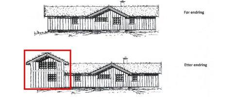 Uenighet: «Jeg mener at tilbygget i form av påbygg til eksisterende hytte er i strid med kommunens reguleringsplans bestemmelse om adgang til ikke å bygge mer enn én etasje», skriver naboen. Kommunen har godkjent planene og nå har Fylkesmannen avvist klagen og godkjent kommunen sitt vedtak.