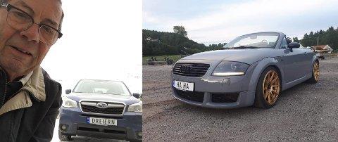 Dette er to av Vestbybeboerne som har valgt å kjøpe et personlig bilskilt.