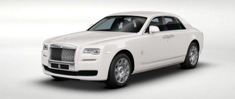 Hvitt er mye brukt på luksusbiler, og en hvit Rolls-Royce antyder eiere som ikke er lette å tilfredsstille.