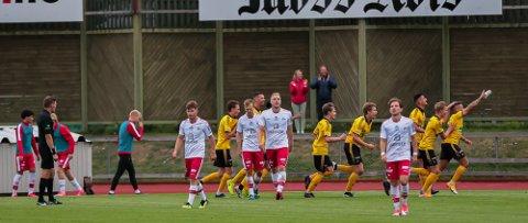 ER JUBEL: MFK kunne juble etter å ha slått ut FFK av cupens 2. runde. Nå venter i 3. runde.