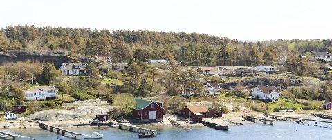 Tradisjon: Båtbyggeriet er en historisk del av Hvasser, men det begynner å bli noen år siden det var næringsaktivitet her nå. Dagens eiere kjøpte i 2013 og har brukt mye tid på å få til fritidsbolig her. Foto: Nina Therese Blix