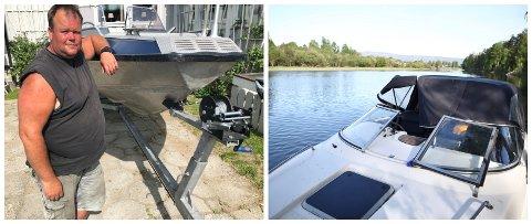 STJÅLET OG ØDELAGT: – Min båt ble nok hardt brukt, det viser både timeteller og tom bensintank, sier Kjetil Nilsen. Også den andre båten ble påført skader.