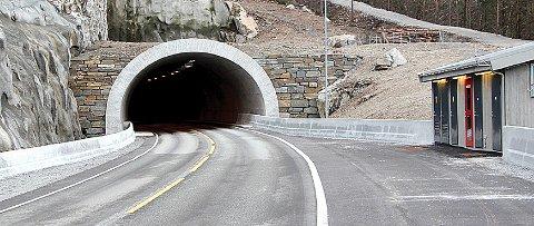 Når du kjem til tunnelopninga på Vatne er det slutt på DAB-signala. (Arkivbilde)