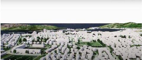 Ny bydel: Tre nye forslag er presentert, og slik som dette kan den nye bydelen i Bodø bli seende ut.