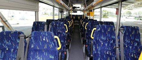 Tom buss: Ingen passasjerer hadde innløst bussbillett på Vikingbussen fra Haugesund til Avaldsnes lørdag formiddag.