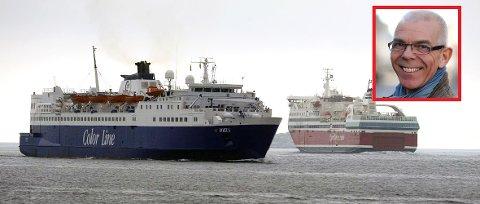 Siden Jan Johansen og Scandi Line i 1986 lyktes med å få dispensasjon til taxfree-salg, har millioner av passasjerer reist til Strømstad med enveisbillett og hjem via E 6 og Batsøferga samme dag, skriver Astor Andersen (innfelt)