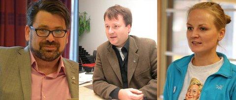 TRE PÅ TOPP: Vegard Riseng, Lars Elsrud og Magnhild Huseby Bolstad er på forslaget til nominasjonslista til Oppland Høyre før stortingsvalget i 2021.