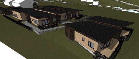 OMSORGSBOLIGER: Planen er å bygge seks omsorgsboliger, personalbase og dagsenter på tomten til Søylandsveien 18 b