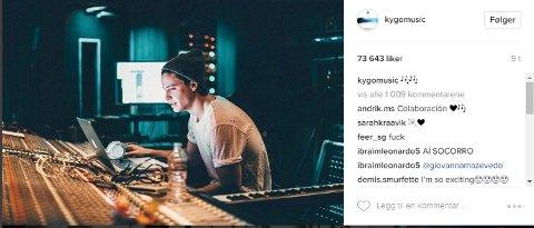 Kygo tagget Selena Gomez i dette bildet søndag. Kan det bety at de jobber sammen på Gomez sin nyeste låt?