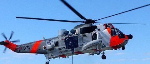 Kunne returnere: Sea King-helikopteret på Rygge fløy til Søster-øyene, men kunne raskt returnere.