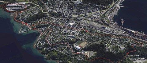 Folkerittet: Årets folkeritt er 10 km lang og går fra kirkeparken og rundt hele Frydenlund-siden av Narvik.