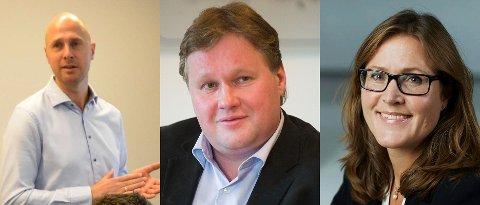 SVARER PÅ KRITIKKEN: Lars Erik Myhre (Fresenius Kabi), Kjell-Arve Kure (Saugbrugs) og Trude Larstad (Nexans).