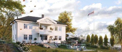 Nytt boligprosjekt: Salgssjef Solrunn Laastad i BoligPartner - Arnøybygg AS er klar til å bygge om noen skulle være interessert. Her følger noen eksempler på hus de kan føre opp (bla videre til høyre).