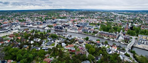Fredrikstad har hatt størst boligprisvekst de siste fem år. Byutviklingen skjer på begge sider av Glomma.